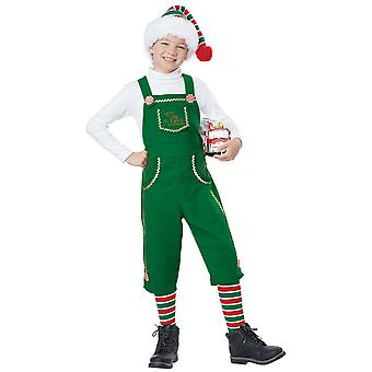 Toymaker Elf Santa Helper Christmas Festival Fancy Dress Up Boys Costume