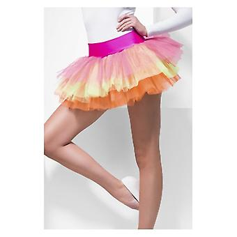 Womens Multi gekleurde Tutu onderjurk Fancy Dress accessoire