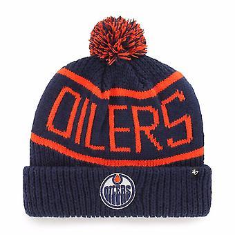 Apos;47 Nhl Edmonton Oilers Navy Calgary Cuff Knit
