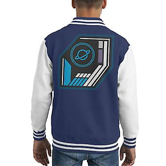 The Crystal Maze Basic Planet Badge Kid's Varsity Jacket