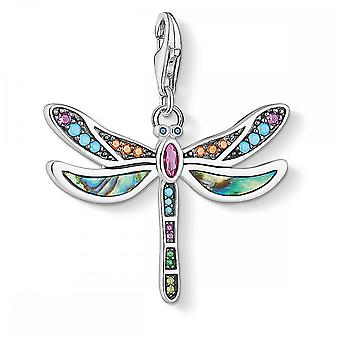 Thomas Sabo Charm Club Thomas Sabo Sterling Silber Multi coloured Libelle Charme 1757-964-7