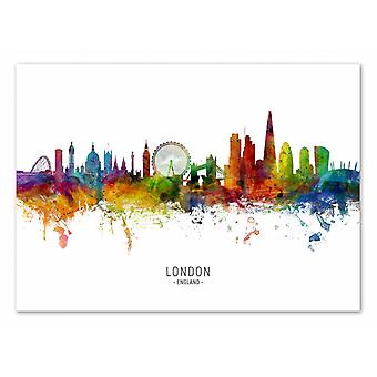 Konst-affisch-London England Skyline (färgad version)-Michael Tompsett 50 x 70 cm