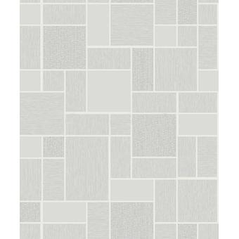 Grey glitter tegel effect behang wit zilver wasbaar luxe badkamer vinyl