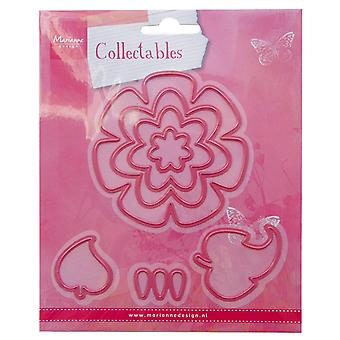 Marianne Design Flowers and Leaf Collectable Die, Pink