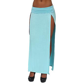 Women's Skirt Split Open Front Full Lenght Rayon