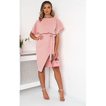 IKRUSH Womens Mary Batwing Split Midi Dress