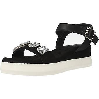 Gele winkel sandalen Aisha kleur zwart