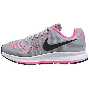 Kids Nike Girls Zoom Pegasus 34 (GS) Low Top Lace Up Running Sneaker