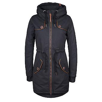 Alife and kickin Damen Winterparka sportlicher Wintermantel Charlotte C in moonless Gr. M-XL