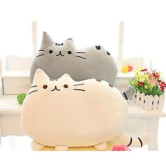 Extra Soft Pillow - Cute Cat-shaped Pillow Cushion Soft Plush Toy- Doll Home Sofa Decor - Gray