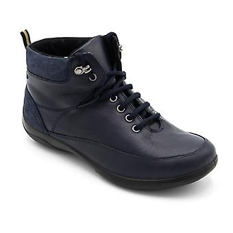 Padders Stoneywell Ladies Leather Extra Wide (2e/3e) Waterproof Boots Navy