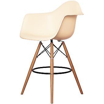 Charles Eames Stile Vaniglia Plastica Bar Sgabello con braccia