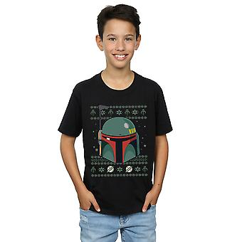 Star Wars Boys Boba Fett Christmas T-Shirt