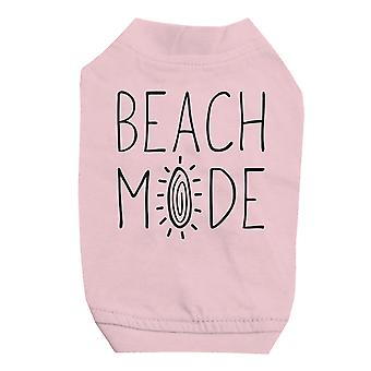 365 Printing Beach Mode Pink Pet Shirt for Small Dogs Cute Graphic Cat Tee Shirt