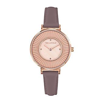 Ted Lapidus Watch A0761URPL - Steel Leather Bracelet Violet Women