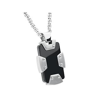 Collar and pendant Rochet P05231 - LAGOS Steel PVD Black Cha does 50cm Men