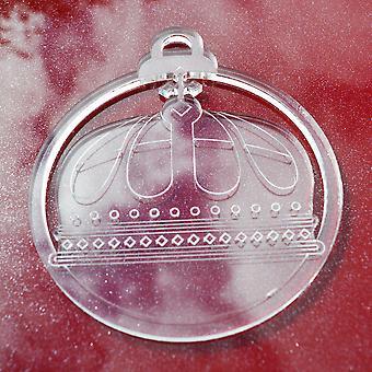 6 Pk Queens Kreuz Krone klar Acryl Weihnachtsdekorationen