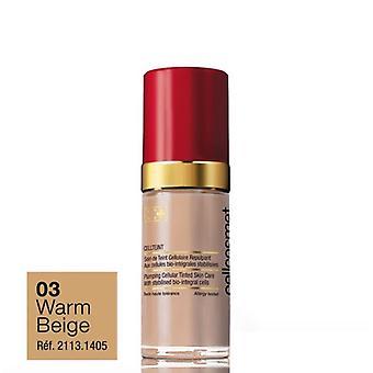 Cellcosmet Cellteint Plumping Cellular Tinted Skin Moisturiser 30ml-03 Warm Beige