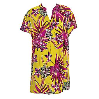 Sunflair 23813-63 Women's Botanical Paradise Yellow Floral Beach Shirt