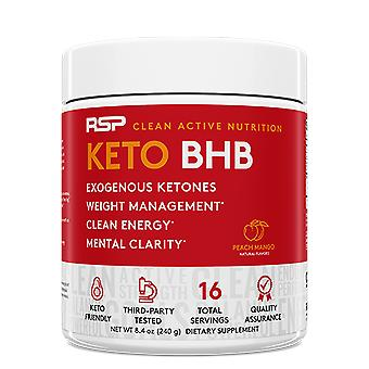 Rsp ketobhb powder, exogenous ketones for ketosis support, energy, weight management,  (peach mango powder)