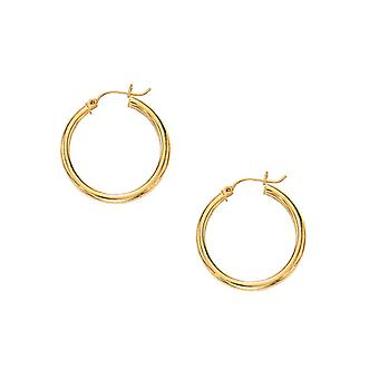 10k Gold Super Lite Tube Earrings 3.0mm Anklet Jewelry Gifts for Women - 1.6 Grams