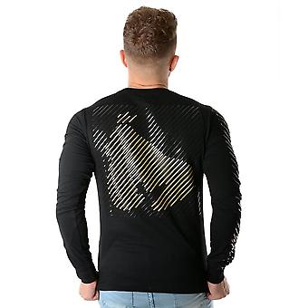 Money | Ape Out Grid 3003 Long Sleeve Top - Black