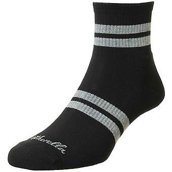 Pantherella Spark Sneaker Socks - Black