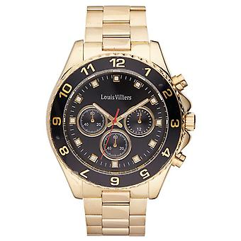 Louis Villiers Quartz Analog Man Watch with LVAG5877-10 Stainless Steel Bracelet