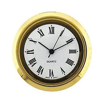 Clock movement quartz mini insertion head Ø35mm gold roman