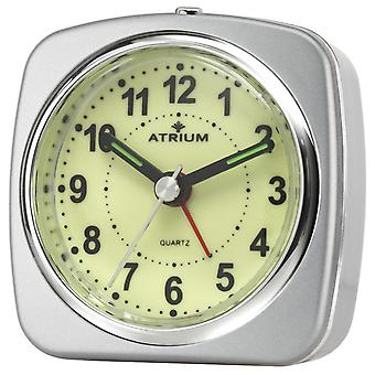 ATRIUM Alarm clock Analog quartz silver A235-19 without ticking with light and snooze