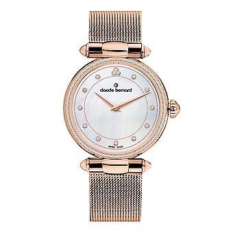 Claude Bernard - Wristwatch - Ladies - Dress Code with stones - 20509 37RM NAR