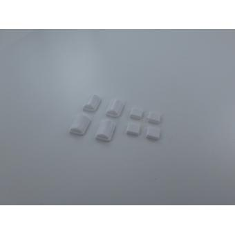 Feet for nintendo wii console replacement rubber silicone grip with adhesive - white | zedlabz