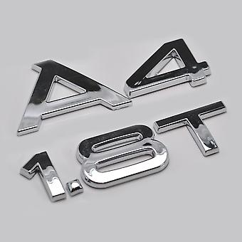 Silver Chrome Audi A4 1.8T Lettering Rear Boot Lid Trunk Badge Emblem For A4 Models