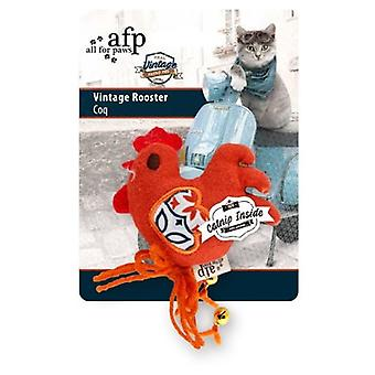 AFP Juguete Vintage Pet Cat Gallo (Gatos , Juguetes , Peluches y plumas)