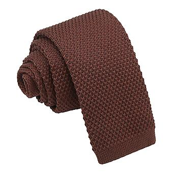 Chocolate Brown Knitted Tie for Boys