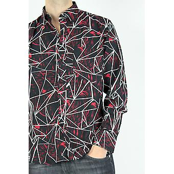Straight-cut patterned shirt