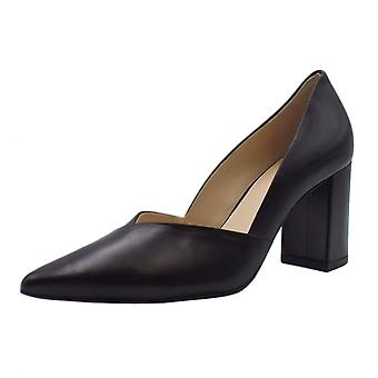 Högl 6-10 7503 Metropolitan Chic Leather Pointed Toe Court Shoes In Black