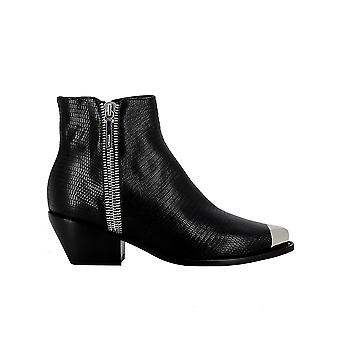 Le Silla 3801n040m1ppidr001 Women-apos;s Black Leather Ankle Boots