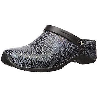 Anywear Women's Zone Health Care Professional Shoe, Python/Black, 9 Medium US