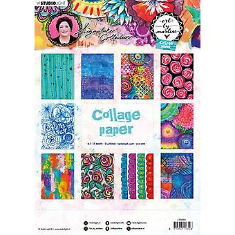 Art By Marlene 5.0 Collage Paper A4 20/Pkg-NR. 06, 10 Disegni/2 Ciascuno