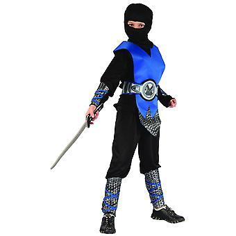 Déguisement ninja bleu et gris garçon