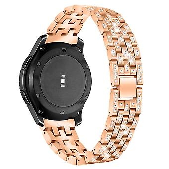 Samsung Galaxy 42 mm Armband Rosé Gold mit Strass