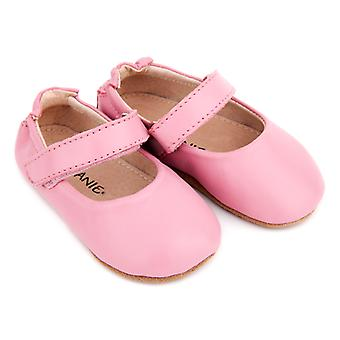 SKEANIE Leather Mary-Jane Pre-walker Shoes in Pink