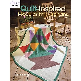 Quilt Inspired Modular Knit Afghans - 6 Colorful Designs Made with Wor