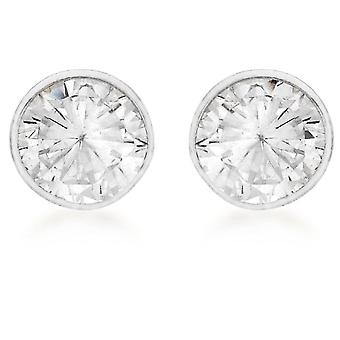 Tuscany Silver Earrings for Women's Stud in Silver Sterling 925 - with Cubic Zirconium