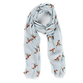 At Home In The Country Polyester Twill 70cm x 190cm Scarf - Fox