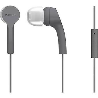 KOSS KEB9iGry In-ear headphones In-ear Headset, Touch control Grey