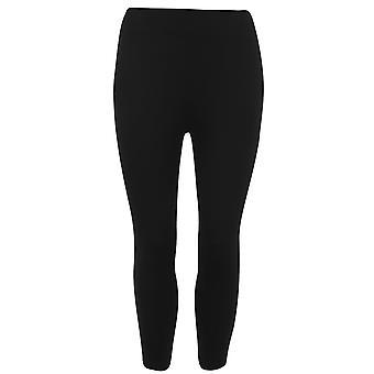 Miso Womens High Waist Capri Leggings Elasticated Waistband Bottoms Pants