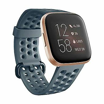 "Replacement Strap Bracelet Silicone Band for Fitbit Versa 2/Versa Lite/Versa[Small Fits Wrist 5.5"" - 6.9"",Slate]"