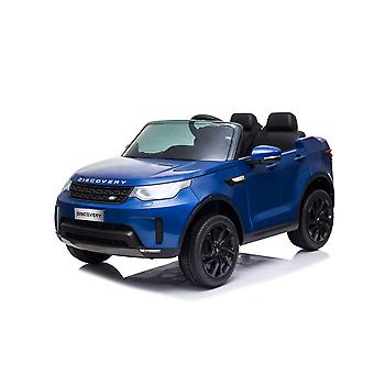 licenced land rover discovery blue 12v 5a kids electric ride on car one seater